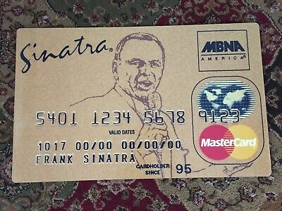 FRank Sinatra Add for MASTERCARD GIANT CARD 1 of kind PRICELESS