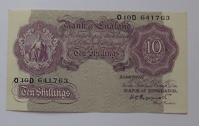 Peppiatt Emergency Wartime Issue Ten Shilling Note. MINT