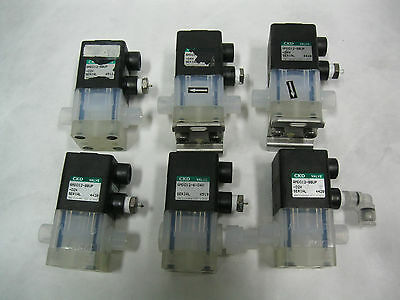Lot of 6: CKD AMD012 Air-Operated Manifold Branch Pneumatic Valves 8BUP (L4)