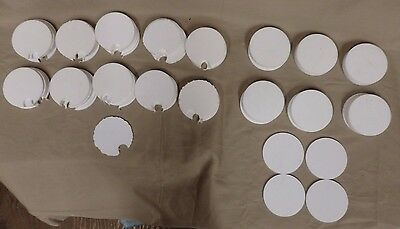 """Lot of ~5 Pounds of Teflon Discs 2 7/8"""" Diameter 1/8"""" Thickness 85 Pieces"""