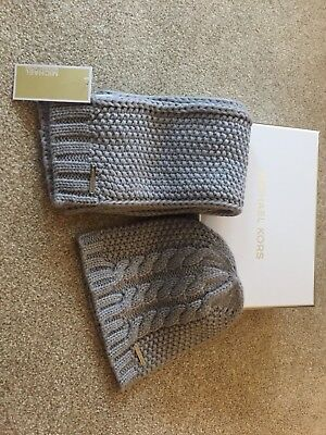 Michael Kors Genuine Ladies Hat And Scarf New With Tags & Boxed