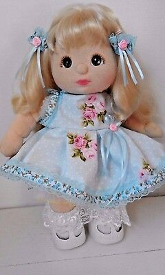 SooBee Designs for My Child Dolls, ROSEBUDS & RIBBONS  DRESS SET no doll