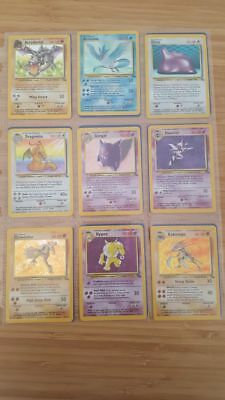 Pokemon Card Complete Fossil Set 64/64 RARE WOTC 1999 NM-Played Holo Collection
