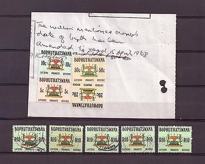 South Africa - Bophuthatswana Revenue Stamps