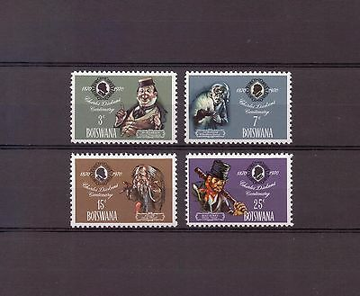 Botswana - 1970 - Mint set - SG265-268 - Death Centenary of Charles Dickens