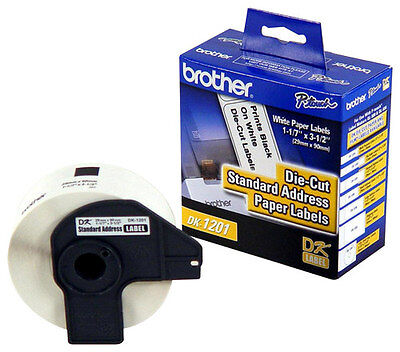 """Brother - 1-1/7"""" x 3-1/2"""" Address Paper Labels (400-Pack) - White"""