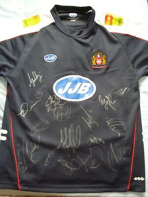 Wigan Warriors Signed Shirt x19 - Rugby Autograph, Burgess, 2017 Squad, Marshall
