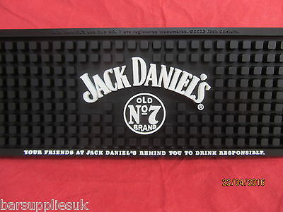 Jack Daniels Old No 7  Whiskey Thick Heavy Duty Rubber Bar Runner Brand New