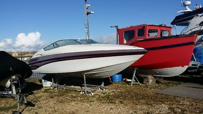 Crownline 225 ccr power muscle speed boat. 23ft project restoration.