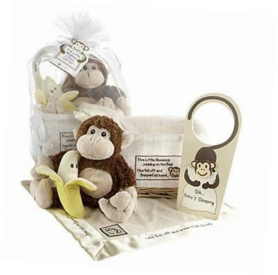Baby Aspen Five Little Monkeys 5-Piece Gift Set NWT 0 - 24 months