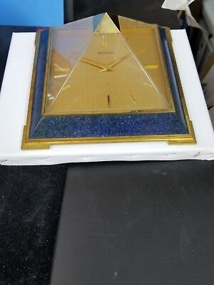 Super rare LeCoultre Tabe Clock with 8 day movement, Pyramid design, 1960´s