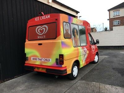 Whitby Morrison Ford Transit Soft Ice Cream Van Carpigiani Van UNO Pas Machine