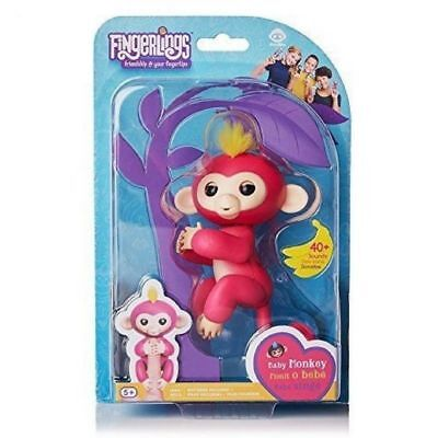 Pink Finn Fingerlings Interactive Fingerling Finger Baby Monkey Toy HOT