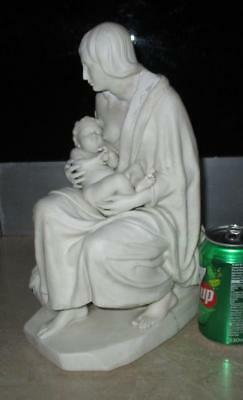 Large Victorian Minton Parian Porcelain Figure Of The Distressed Mother