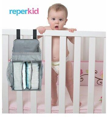 ReperKid Nursery Organizer - Diaper Caddy w/L Pockets for wipes, lotion, creams.