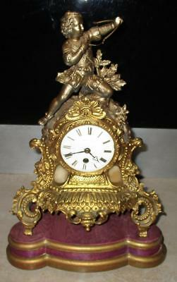 19th Century French Gilt Metal Clock - LEROY PARIS