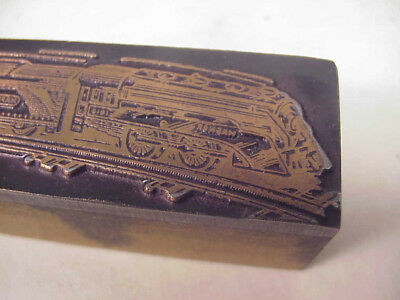 Hafner toy train hot metal lead print ad advertising slug - RARE antique