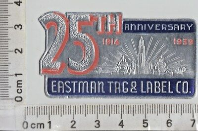 EASTMAN TAG & LABEL CO. - 25TH ANNIVERSARY - Red and Blue on Silver Foil