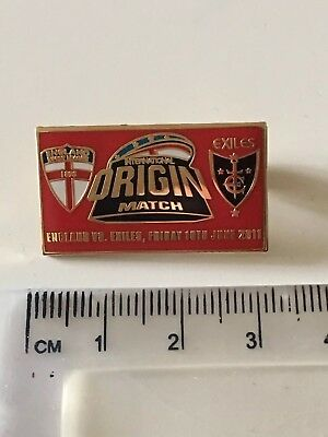 England v Exiles origin 2011 Rugby league Enamel Pin Badge red