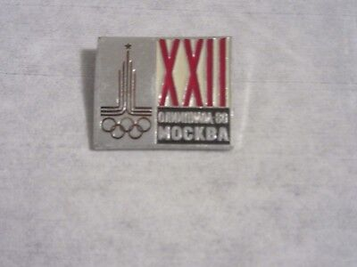 Moscow  XX11 1980 Olympics badge