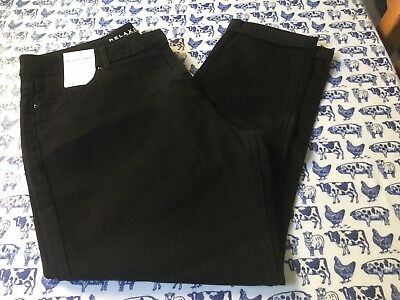 **NEW** M&S Ladies Black Jeans - Size 18 Medium. Relaxed skinny