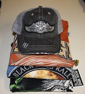 Sturgis.com Inventory Closeout - 3 X-Large T-shirts and 1 Hat