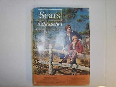 Vintage 1975 Sears Roebuck Fall / Winter Catalog