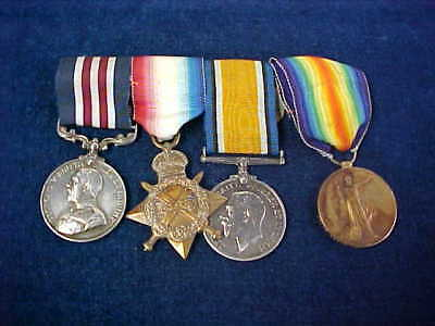 """Orig WW1 Military Medal """"MM"""" Gallantry Group 6th Kings Own Scottish Borderers"""