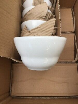24 NEW Core 7.25 oz. Ivory Wide Rim Rolled Edge China Soup Bouillon Cups