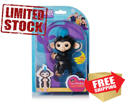 FINGERLINGS Interactive Finger Pet Monkey Black FINN Fingerling Original Package