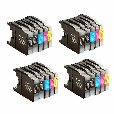 4 Set of 20 PK LC71 LC75 LC79 ink NON-OEM Cartridge for Brother MFC-J430W J425