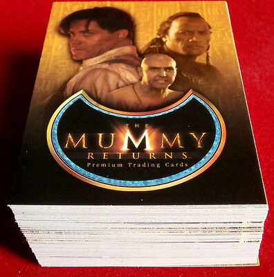 THE MUMMY RETURNS - COMPLETE BASE SET (all 81 Cards) - Inkworks 2000