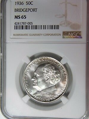 1936 Bridgeport Ct Ngc Ms 65 Superb White Blazing Gem