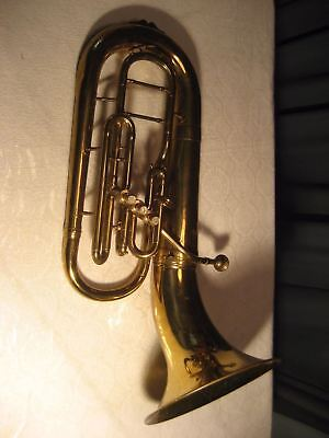 Vintage Concord Cadet Bell Front Baritone Horn Made In Italy 4244