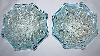 Antique Pair of Bohemian Painted Enameled Art Glass Bowls-Moser?