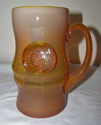 Vintage Poland Art Glass Mug Stein