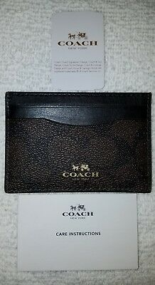 NWT Coach Card Case/Holder Signature PVC F63279
