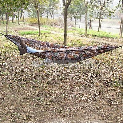 400lbs Camouflage Outdoor Garden Camping Beach Travel Hammock Air Chair Bed