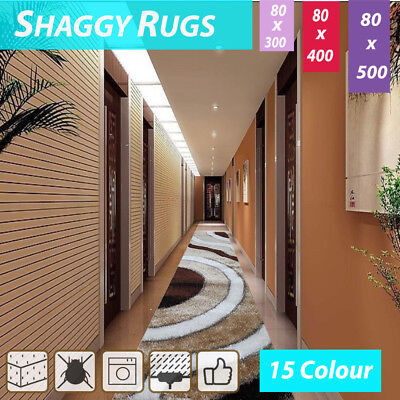 80x500cm HallWay Runners Shag Shaggy Floor Confetti Rug Carpet Sunset Pattern
