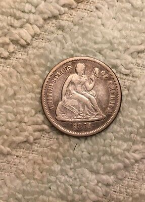 US, 1861 Dime, Seated Liberty