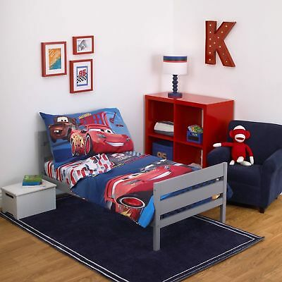 Disney Cars ( 3 Piece Toddler Bedding set ) Fast Not Last