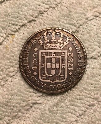 Portugal, 1782, Large Silver 400 Reis