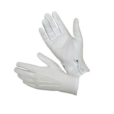 1 Pair Formal Gloves Tuxedo Honor Guard Parade Santa Men Inspection Gloves NICE