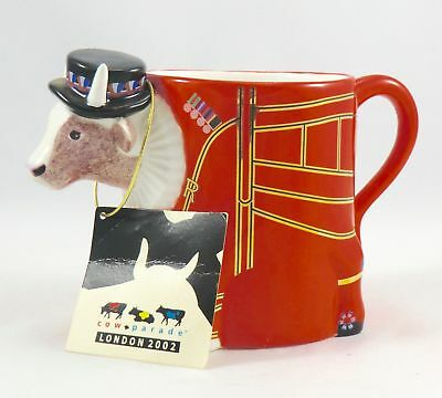 Cow Parade #6701 Beefeater-It Ain't Natural, Very Good Rare Cup with Tag.