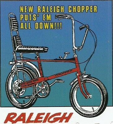 RALEIGH CHOPPER  BICYCLE BIKE  Sticker Decal