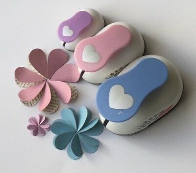 A VALENTINE SPECIAL!    x3 Heart Paper Punches + BONUS Large Punch FREE!!