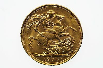 1904 Sydney Mint Gold Full Sovereign in Extremely Fine Condition