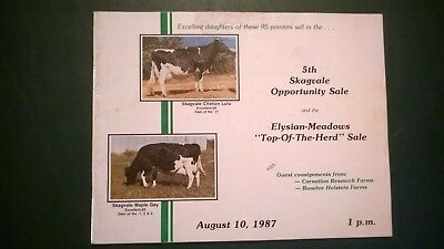Skagvale Farm & Elysian Meadows Holstein Herd Sale Catalog 1987 Washington