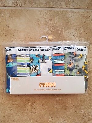BRAND NEW Gymboree BOYS BOXER BRIEFS underwear size 2T --7 PAIRS-- FREE SHIP