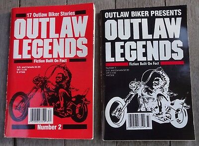 Outlaw Biker Stories Outlaw Legends Number 1 & Number 2 1987